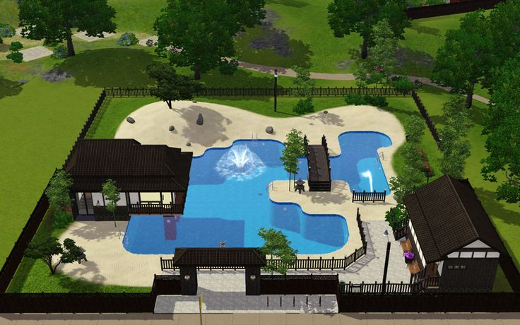 77 best images about sims 3 and 4 houses on pinterest for Pool design sims 3