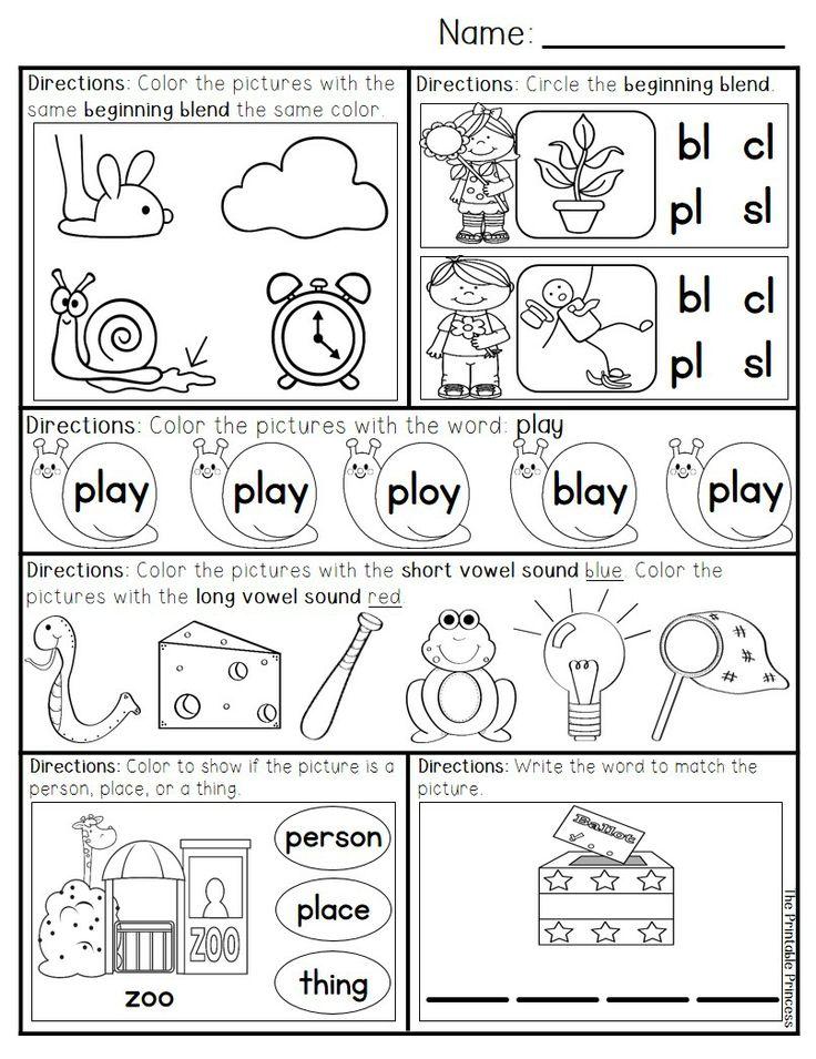 Transitional K Worksheets : Kindergarten worksheets transitional