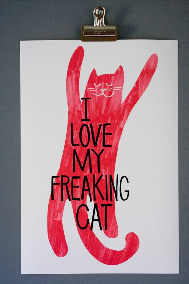 For cat people.