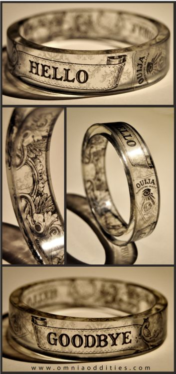 "omniastudios: ""The Séance"" - resin bangle. Conjure your demons. www.omniaoddities.com"