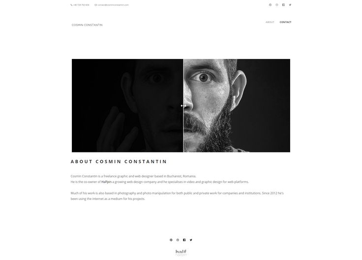 Site prezentare Cosmin Constantin - web designer