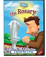 BROTHER FRANCIS DVD:  THE ROSARY: A Special Way to Pray-  When it comes to faith instruction for little ones, we know you'll be happy to have ever faithful, always joyful, basketball-toting Brother Francis on your team! Ages 3-8. English & Spanish viewing options add another dimension of learning. Approx. 30 min. Ages 3-8. 4-Episode collection.Principles Taught, Rosary, Heraldic Stores, Hidden Pictures, Brother Francis, Catholic Faith, Encouragement Children, Activities Book, Francis Dvd