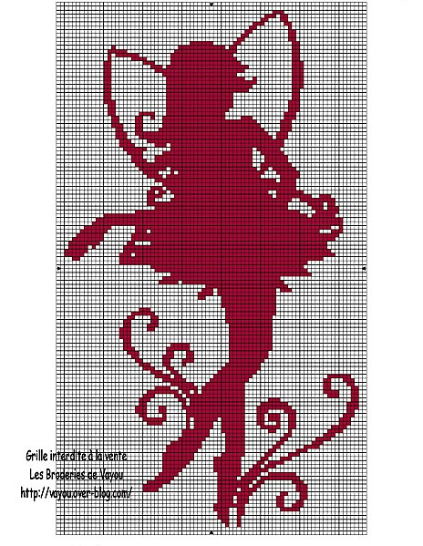 free fairy cross-stitch pattern
