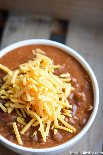 Quick & Easy Chili Recipe - Momma's Chili http://fantabulosity.com #SavingsSalute ad