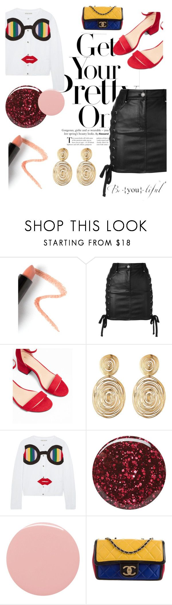 """""""Be [YOU] tiful"""" by sugarcanepop ❤ liked on Polyvore featuring Lapcos, Versus, Express, Gas Bijoux, Alice + Olivia, Burberry, Lauren B. Beauty and Chanel"""