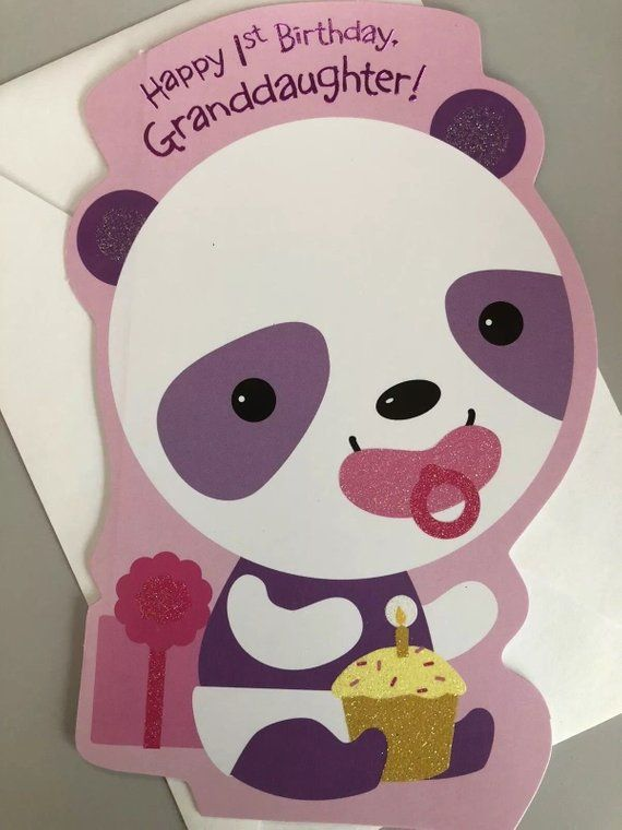 First Birthday Grand Daughter Card 1st Birthday Card First Birthday