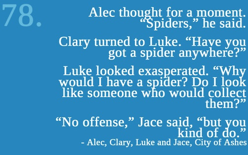 Alec, Clary, Luke and Jace ~ City of Ashes (Mortal Instruments) Quote