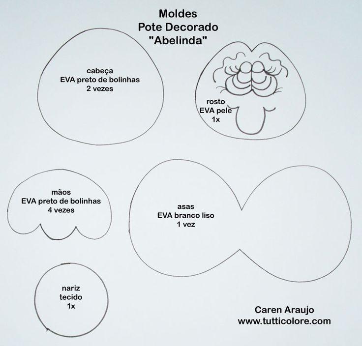 Caren Araujo - Arte em EVA: Passo-a-passo da Abelinda