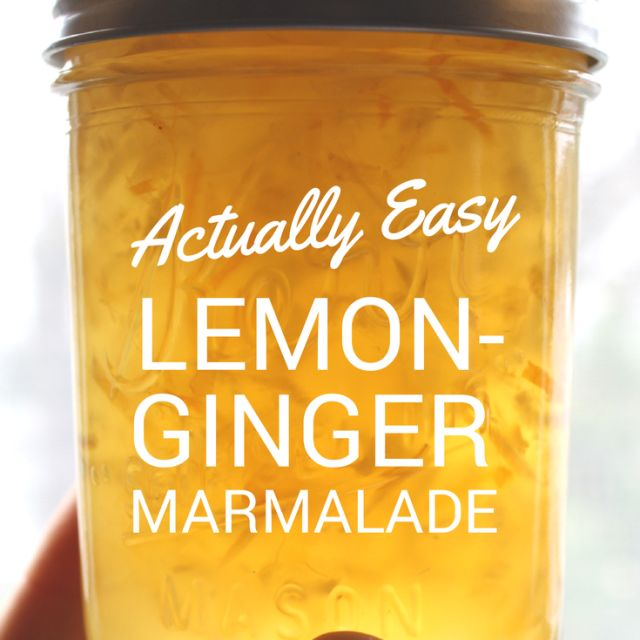 Step by step instructions to make this delicious and easy lemon ginger marmalade. #ginger #lemon #marmalade
