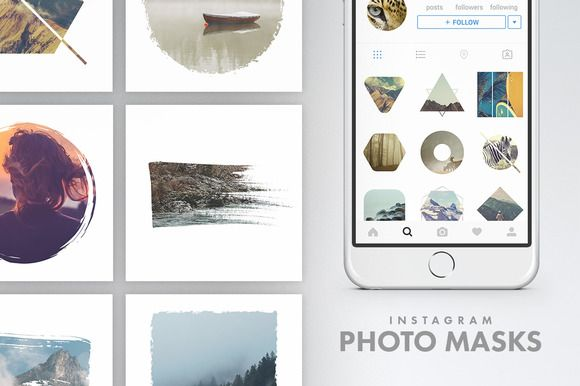 Instagram Photo Masks by Tugcu Design Co. on @creativemarket