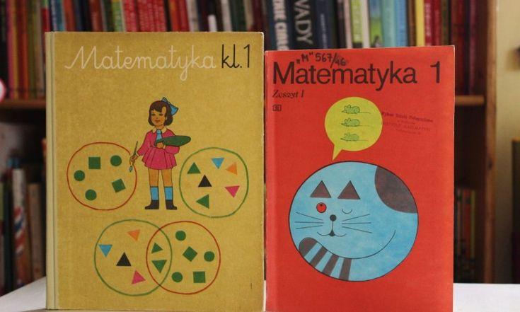 Stare: podręcznik i ćwiczenie do matematyki, klasa pierwsza szkoła podstawowa, PRL <3