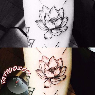 tattoozon - trabzon dövme - arm nelumbo flower floral tattoo - kol lotus çiçeği çiçek dövmesi