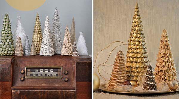 Časť druhá zo série troch vianočných dielov na dekoračné handmade stromčeky zdobené rôznym materiálom. Inšpirujte sa!