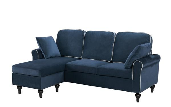 Roy Old Hollywood Space Saving Velvet Sectional Sofa Sectional Sofa With Chaise Small Sectional Sofa Large Sectional Sofa