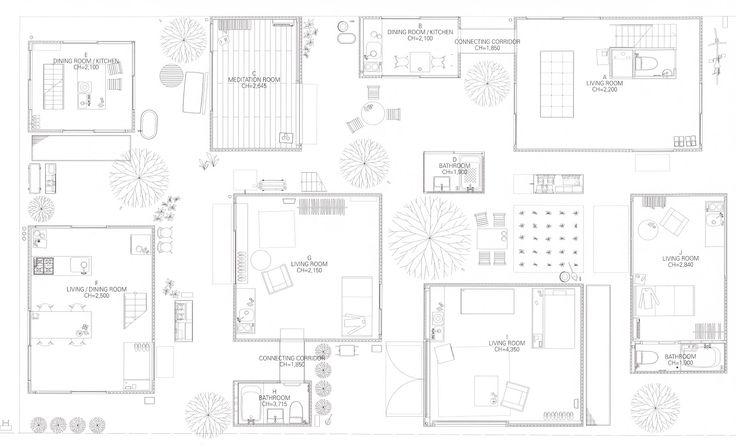 moriyama house  sanaa plan