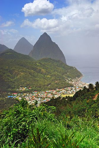 Soufriere and Pitons, St. Lucia