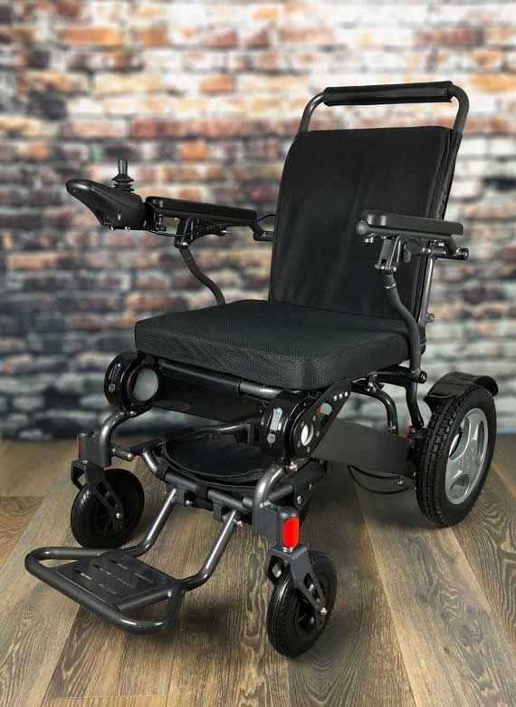Heavy Duty Fold Amp Go Electric Wheelchair Charcoal