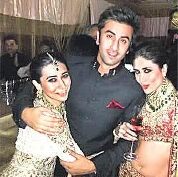 Ranbir, Karisma & Kareena at Kareena-Saif wedding