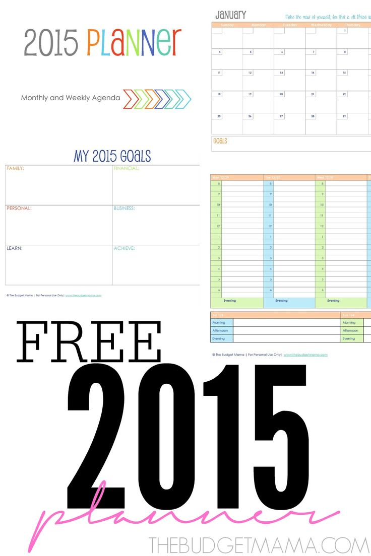 Need a 2015 Planner but don't have room in the budget? This 67 page free planner is easy-to-use and will help you organize your hectic schedule along with your yearly goals.