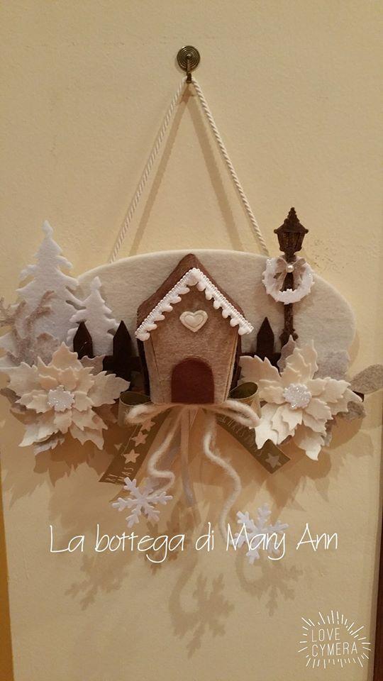 Decorazioni Natalizie In Feltro Pinterest.Fuoriporta Navidad Ghirlande Di Natale Ornamento Di Natale E