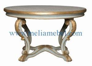 Meja Marmer Bulat model minimalis kami tawarkan dengan dengan desain modern seta dilengkapi dengan ukiran khas jepara pada kaki-kai meja marmer tersebut.