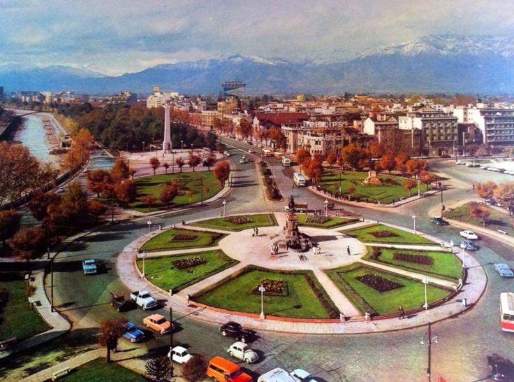 Santiago de Chile 1967 Plaza Italia