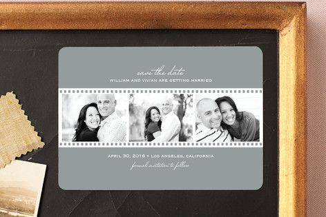 Film Reel Save The Date Magnets by Lina Goldberg at minted.com