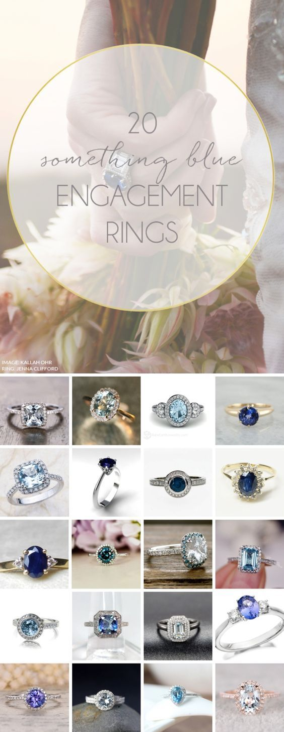 20 Blue Engagement Rings | SouthBound Bride…