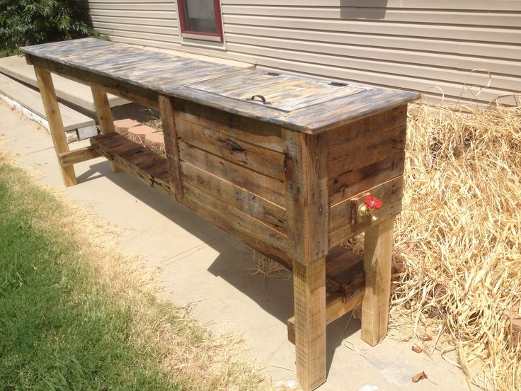 Outdoor Bar With Built In Cooler Ravenwood Furniture And