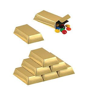 roaring 20's decorations | Click for larger picture of GOLD BAR FAVOR BOXES PARTY SUPPLIES