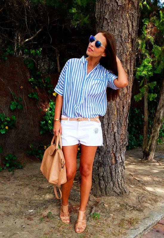 Tras la pista de Paula Echevarría » White & blue stripes