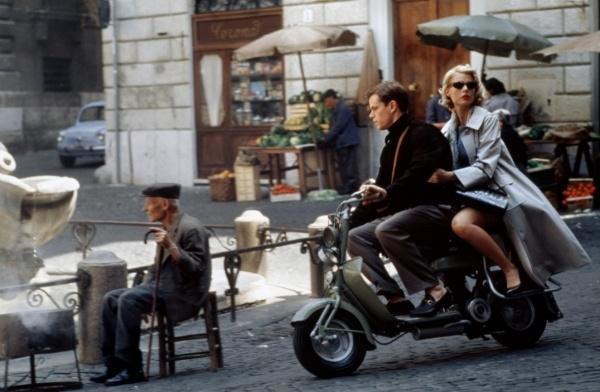 Lambretta with Matt Damon.