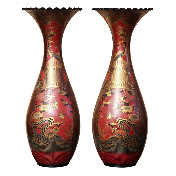 Palace Size Pair of 19th century Japanese  Vases