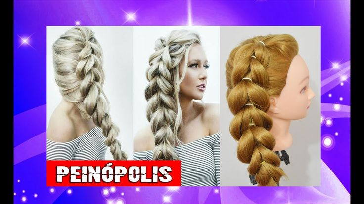 Peinados Faciles y Rapidos para Niñas 💕 Trenzas con Ligas - YouTube
