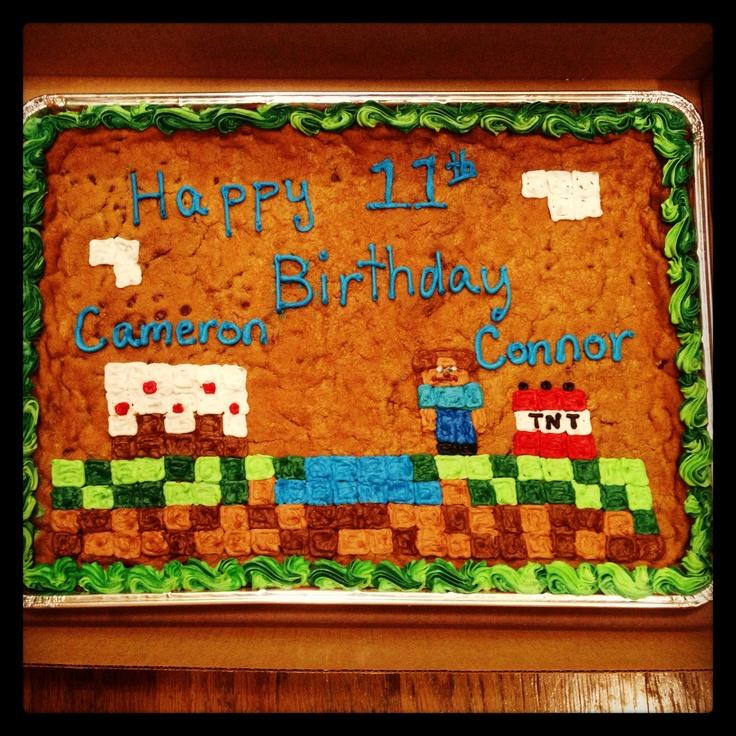 Minecraft Cookie Cake Designs
