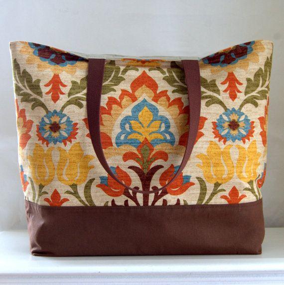 Santa Maria XL Extra Large BIG Tote Bag / Beach Bag by tanneicasey, $45.00