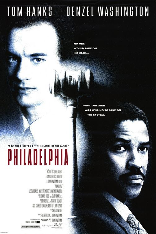 Philadelphia will forever go down in movie history. It was one of the first movies to hit the main stream media depicting a very moving picture of someone living with AIDS. Tom Hanks won his first Oscar for it.