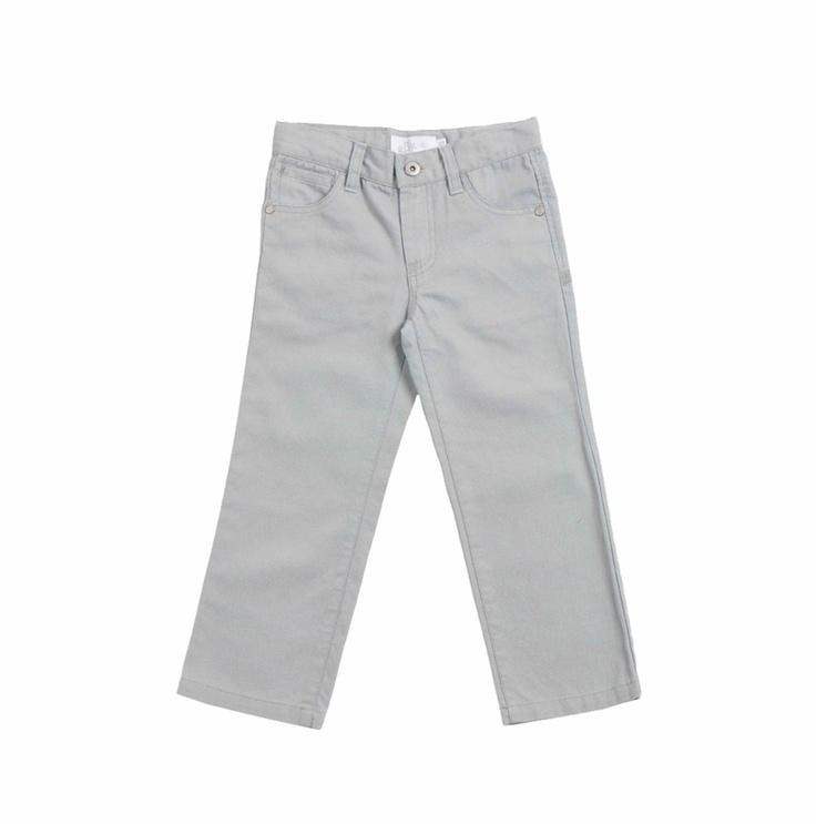 """Pantalón para niño """"canvas"""", en color gris."""