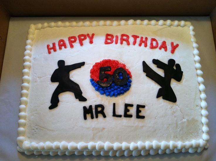 1/2 sheet birthday cake ATA karate