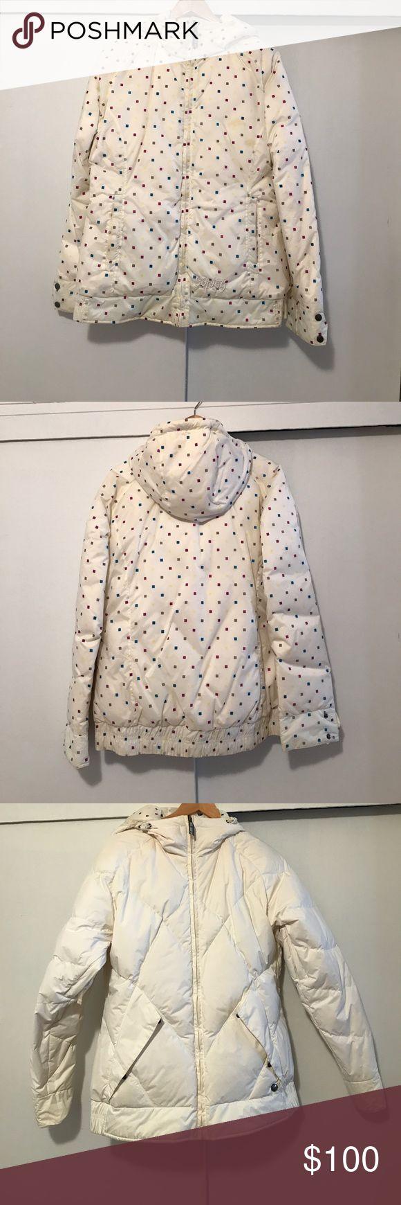 Burton ski jacket Burton two sides ski jacket. Light, warm, comfortable. Pockets on both sides. Worn once. If you buy it together with Columbia snowboard/ ski pants, you will get additional $20 off Burton Jackets & Coats