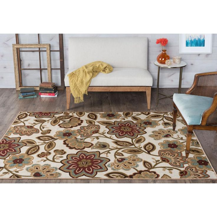 Majesty Cream (Ivory) 3 ft. 11 in. x 5 ft. 3 in. Transitional Area Rug