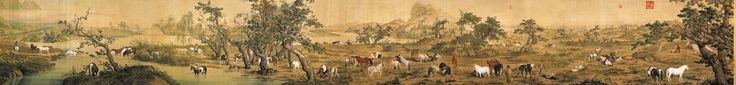 One Hundred Horses by Guiseppe Castiglione (1688-1766)