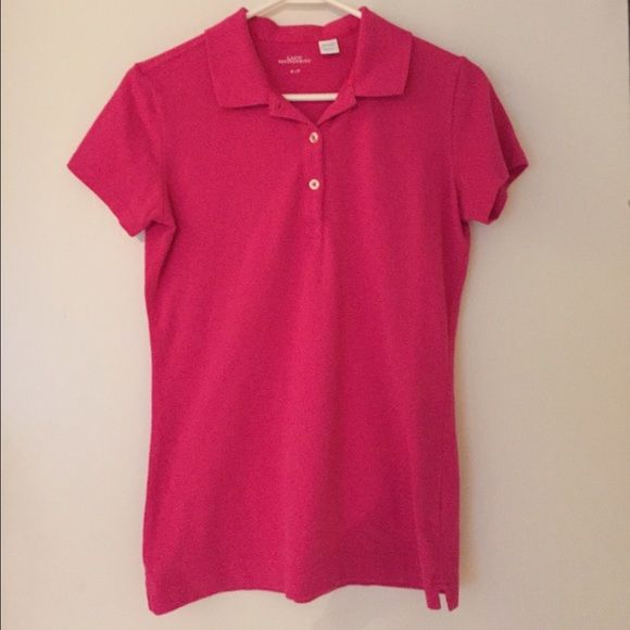 Lipstick pink polo shirt Small / p worn once in excellent Condition Tops