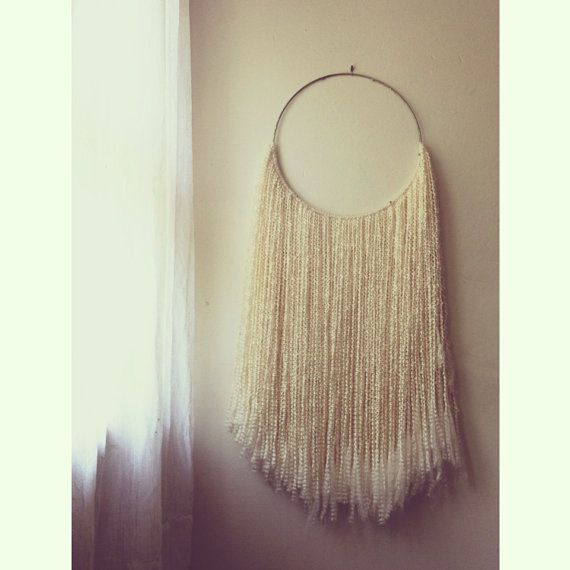 Wool Hoop Wall Art Wall Hanging Tapestry by SonadoraInLove on Etsy, $62.00