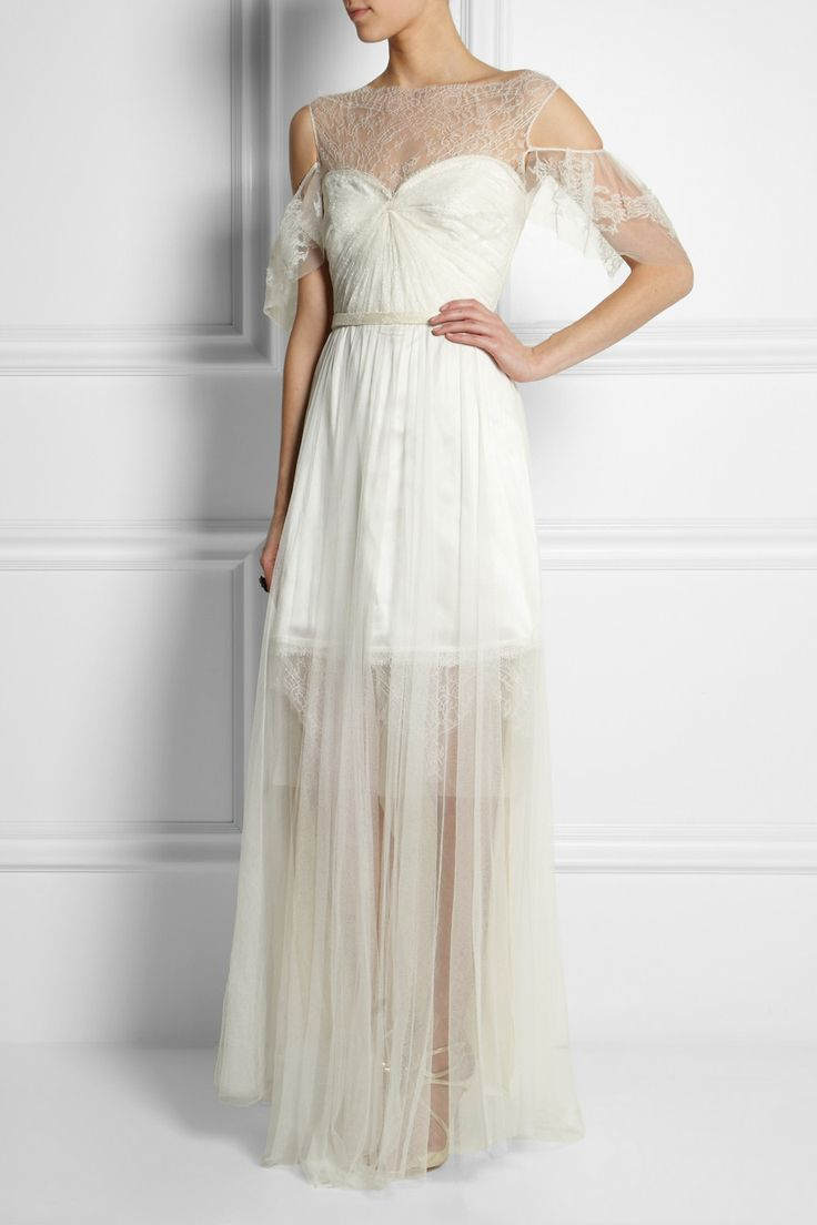 Sophia Kokosalaki|Ortygia lace, tulle and silk-satin gown|NET-A-PORTER.COM