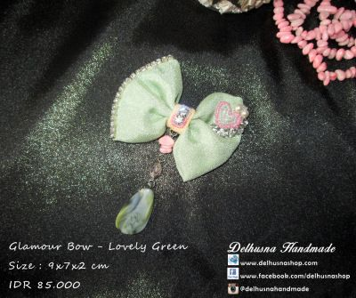 Lovely Glamour Bow Brooch Green Touch   We ship world wide  Price : IDR 85.000/pc  From Pekanbaru Indonesia