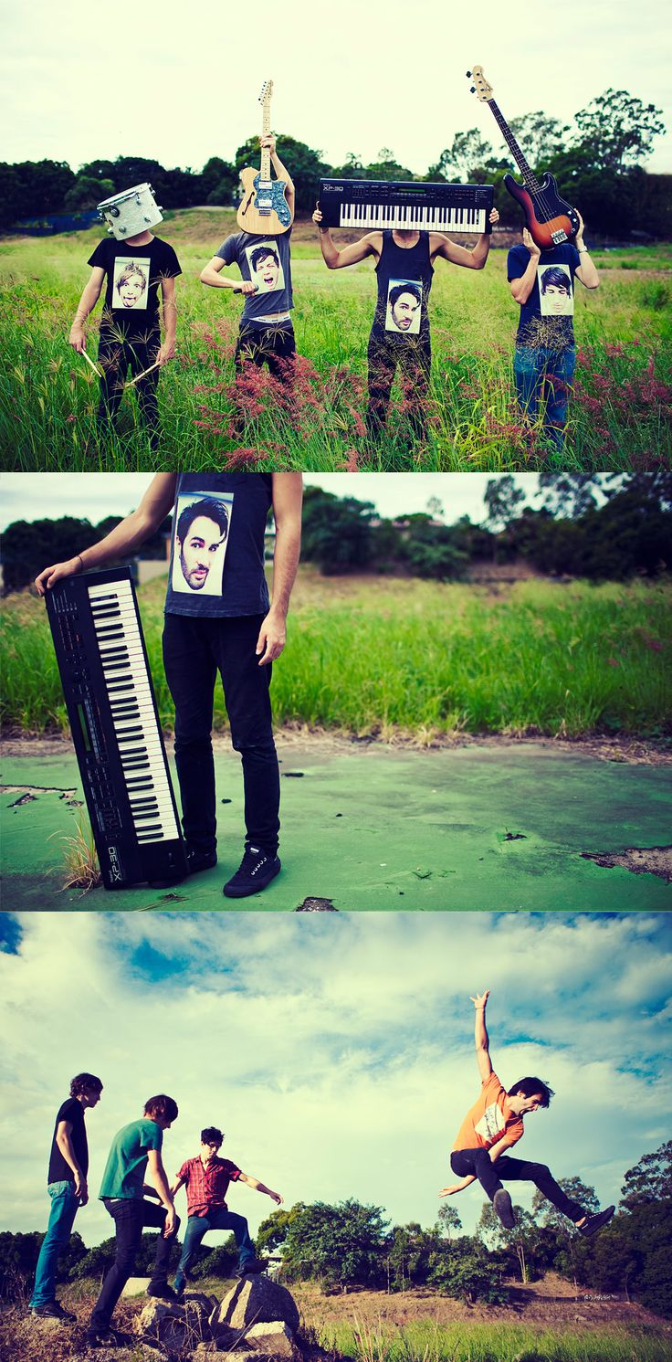 Such a creative idea for a band. This photographer rocks.