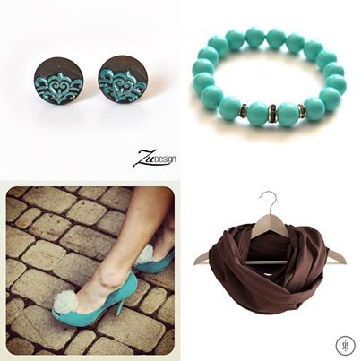 www.zudesign.eu ceramic earrings from Zu Design, bracelet from In2you, shall from SiS and shoe clips from How Do I Look.