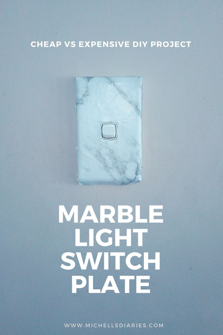 Marble Light Switch Plate DIY