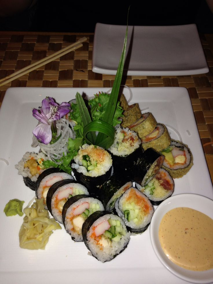 Sushi from Japon probably the best out there, a platter full of different kinds of sushi
